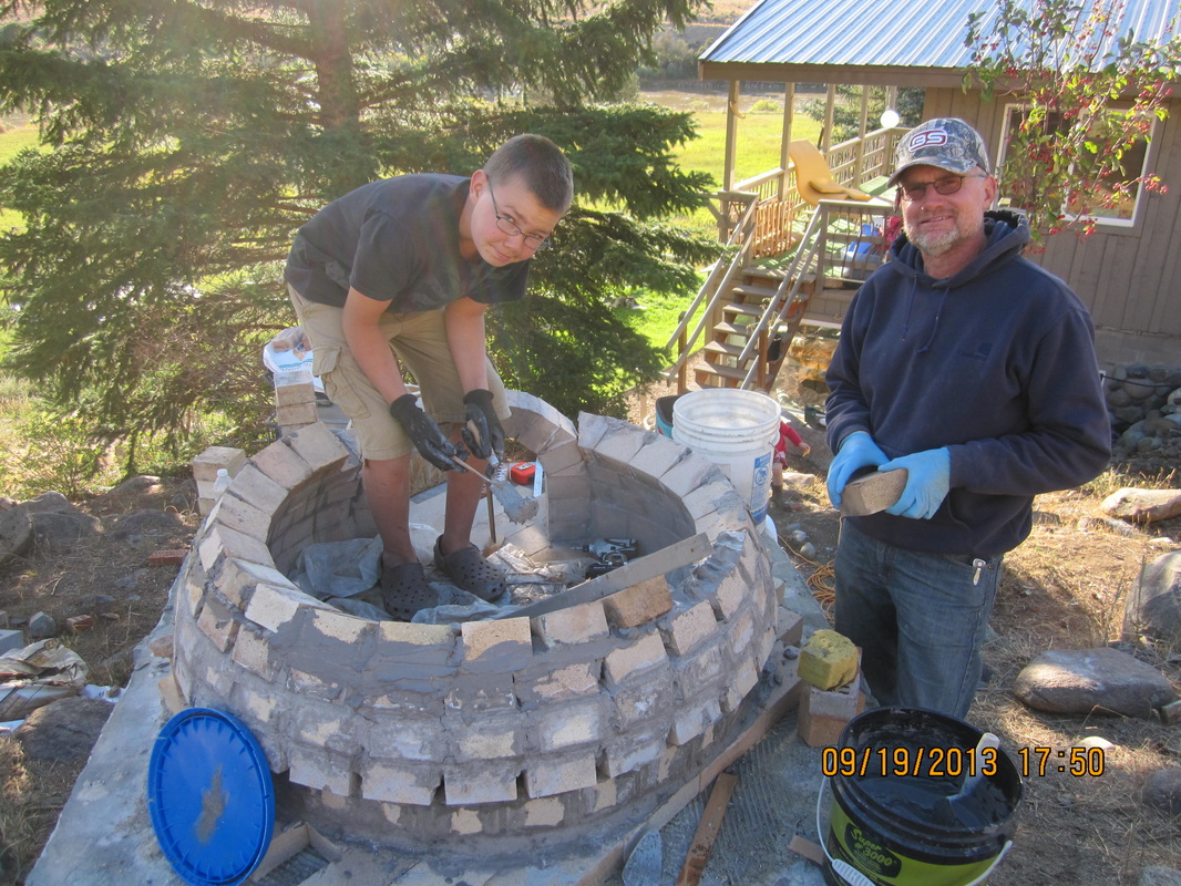 Pizza Oven Construction Sequence and photos - Hired Hand, LLC